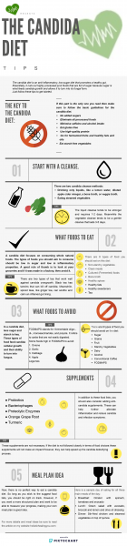 what is the candida diet infographic